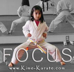 Kime Karate teaches focus!
