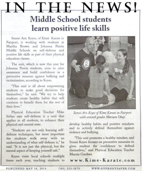 Middle School Students Learn Positive Life Skills in Fairport