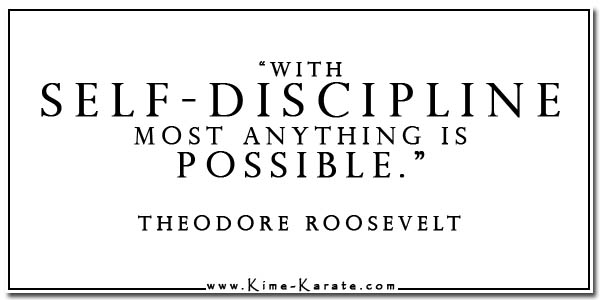 self discipline Theodore Roosevelt quote