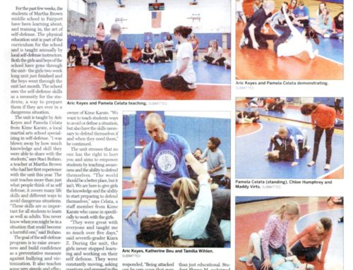 Fairport Students Learn Self Defense Skills