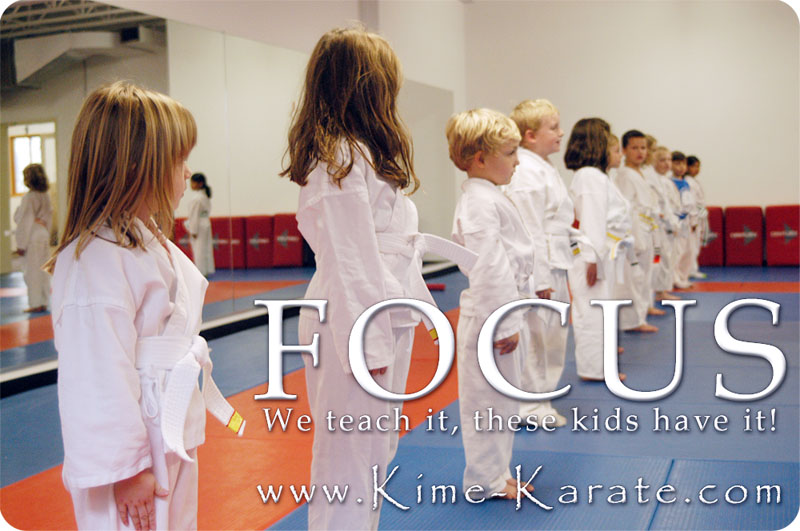 Our kids karate class in Fairport, NY teaches focus.