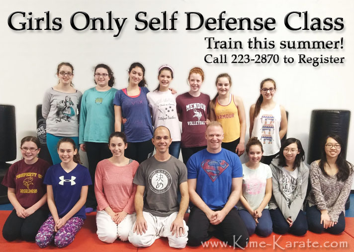 Girls Only self defense class in Fairport