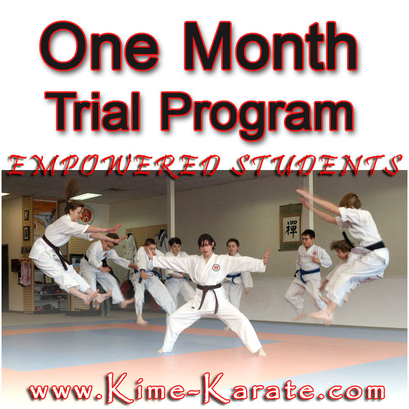Karate trial program in Fairport