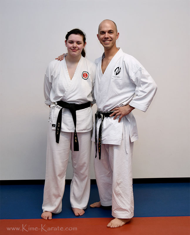 Abi Deniz promoted to black belt