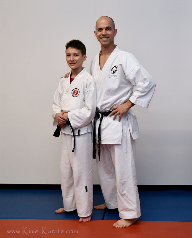 Matthew Kull promoted to junior black belt.