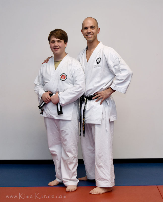 Robert Buckert promoted to junior black belt!