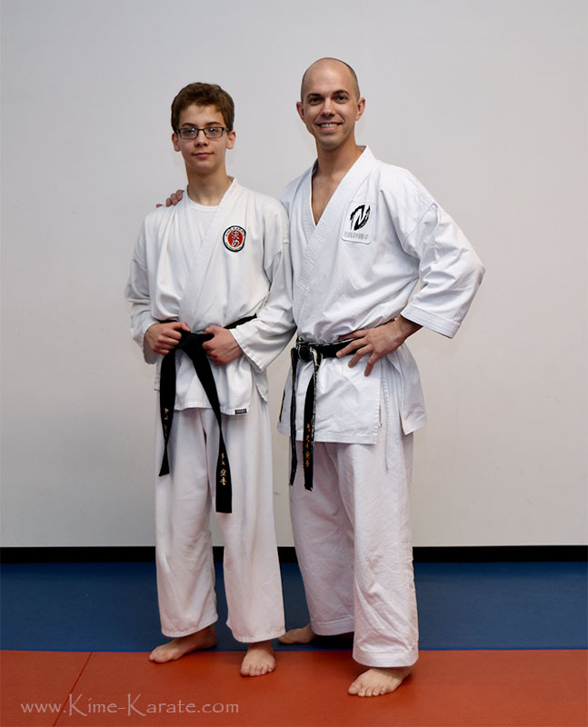 Samuel Griffin promoted to 1st degree black belt!
