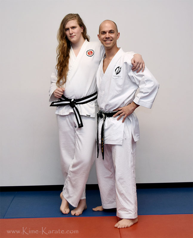 Sky Orner promoted to junior black belt