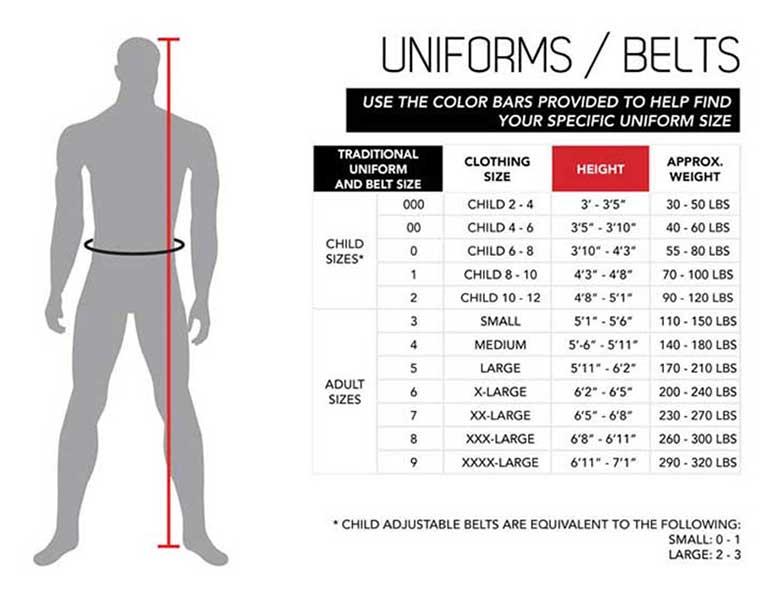 uniform size chart